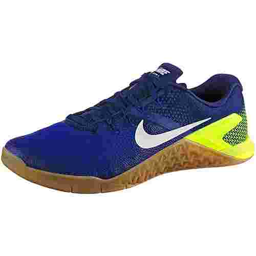 Nike METCON 4 Multifunktionsschuhe Herren volt-white-racer-blue-gum-med-brown-deep-royal-blue