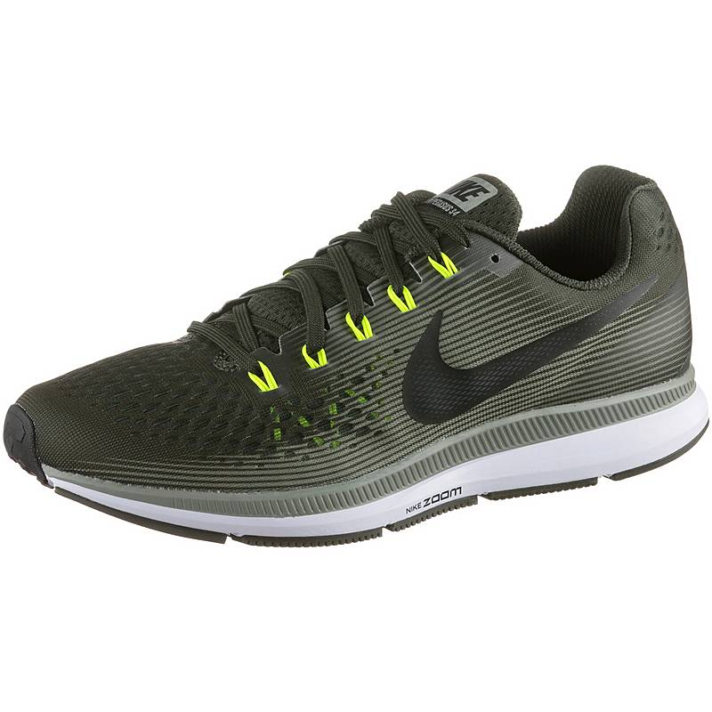 buy online a19aa 0f35d Nike AIR ZOOM PEGASUS 34 Laufschuhe Herren sequoia-black-dark-stucco-volt