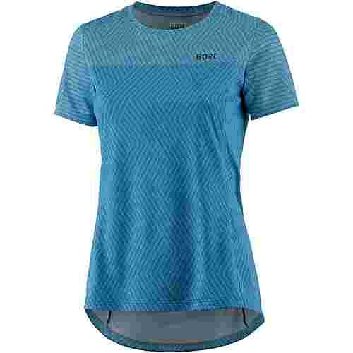 GORE® WEAR R3 Optiline Laufshirt Damen dynamic cyan melange