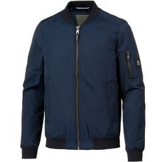 TOM TAILOR Bomberjacke Herren black iris blue