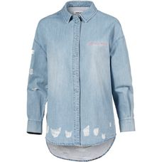 Only Langarmhemd Damen light-denim-blue