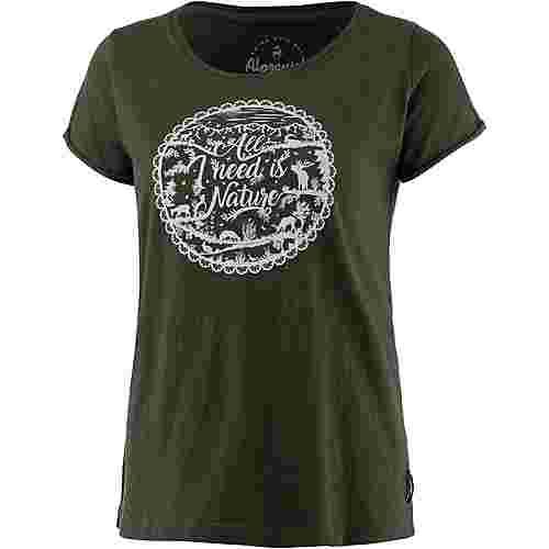 Alprausch Natur Pur T-Shirt Damen kombu green