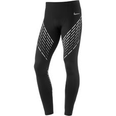 Nike Power Run Lauftights Herren black-white-reflective-silv