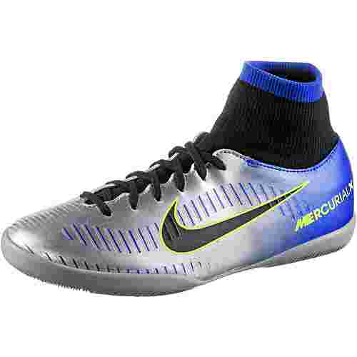Nike JR MERCURIALX VCTRY6 NJR DF IC Fußballschuhe Kinder racer blue/black-chrome-volt-volt