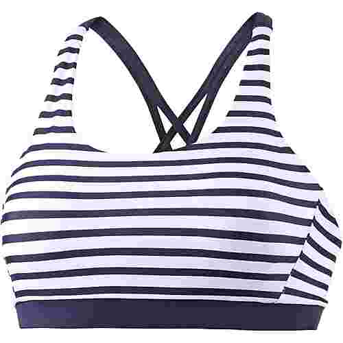 VENICE BEACH Summer Bikini Oberteil Damen marine-weiß gestreift