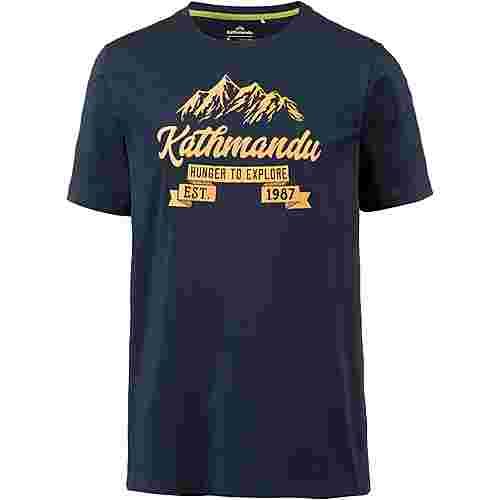 Kathmandu Printshirt Herren dark navy-gold