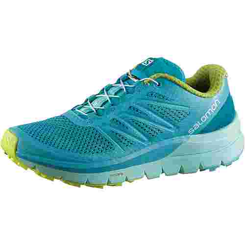 Salomon SENSE PRO MAX W Laufschuhe Damen blue-curacao-beach-glass-acid-lime