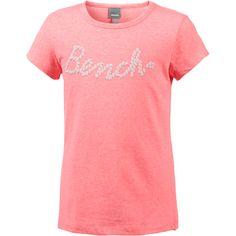 Bench T-Shirt Kinder neon pink