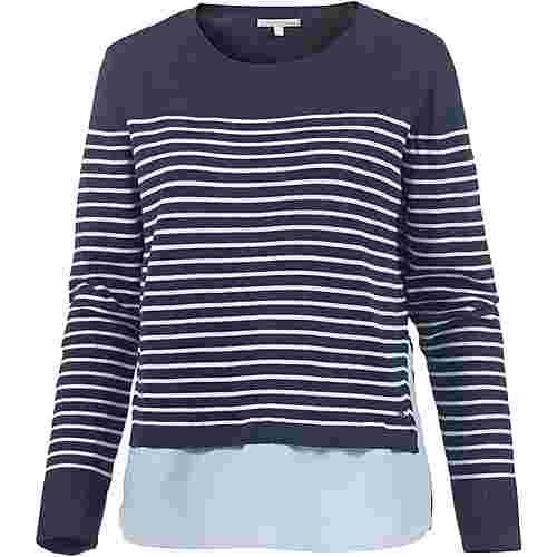 TOM TAILOR 2-In-1 Pullover Damen sky-captain-blue