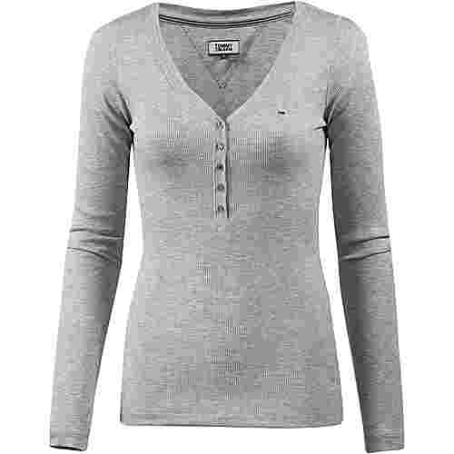 Tommy Jeans Langarmshirt Damen light grey
