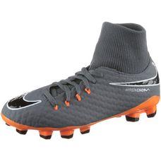 Nike JR HYPERVENOM PHANTOM 3 ACADEMY DF FG Fußballschuhe Kinder dk grey/total orange-white