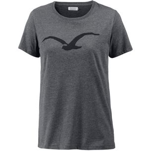 Cleptomanicx Möwe T-Shirt Damen Heather Black/Black