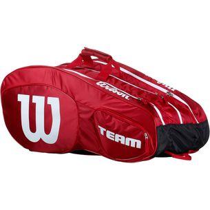 Wilson TEAM III 12 Pack Tennistasche red-white