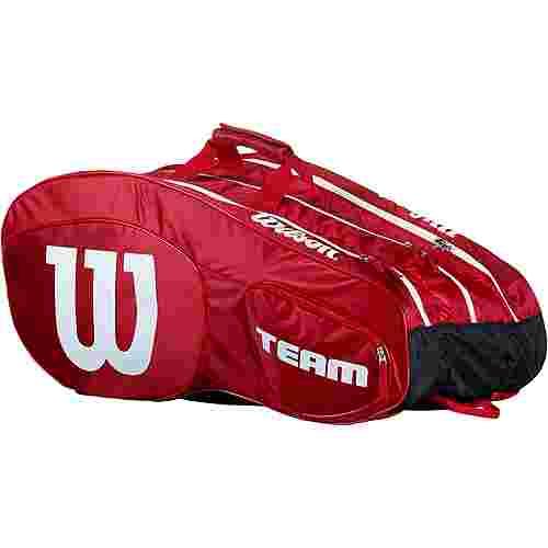5f84cf11e78 Wilson TEAM III 12 Pack Tennistasche red-white im Online Shop von ...