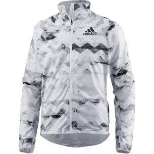 adidas adizero Track Laufjacke Herren crystal white