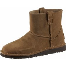 Ugg CLASSIC UNLINED MINI Bootie Damen chestnut
