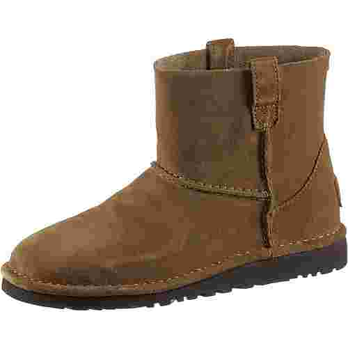 Ugg CLASSIC UNLINED MINI Boots Damen chestnut