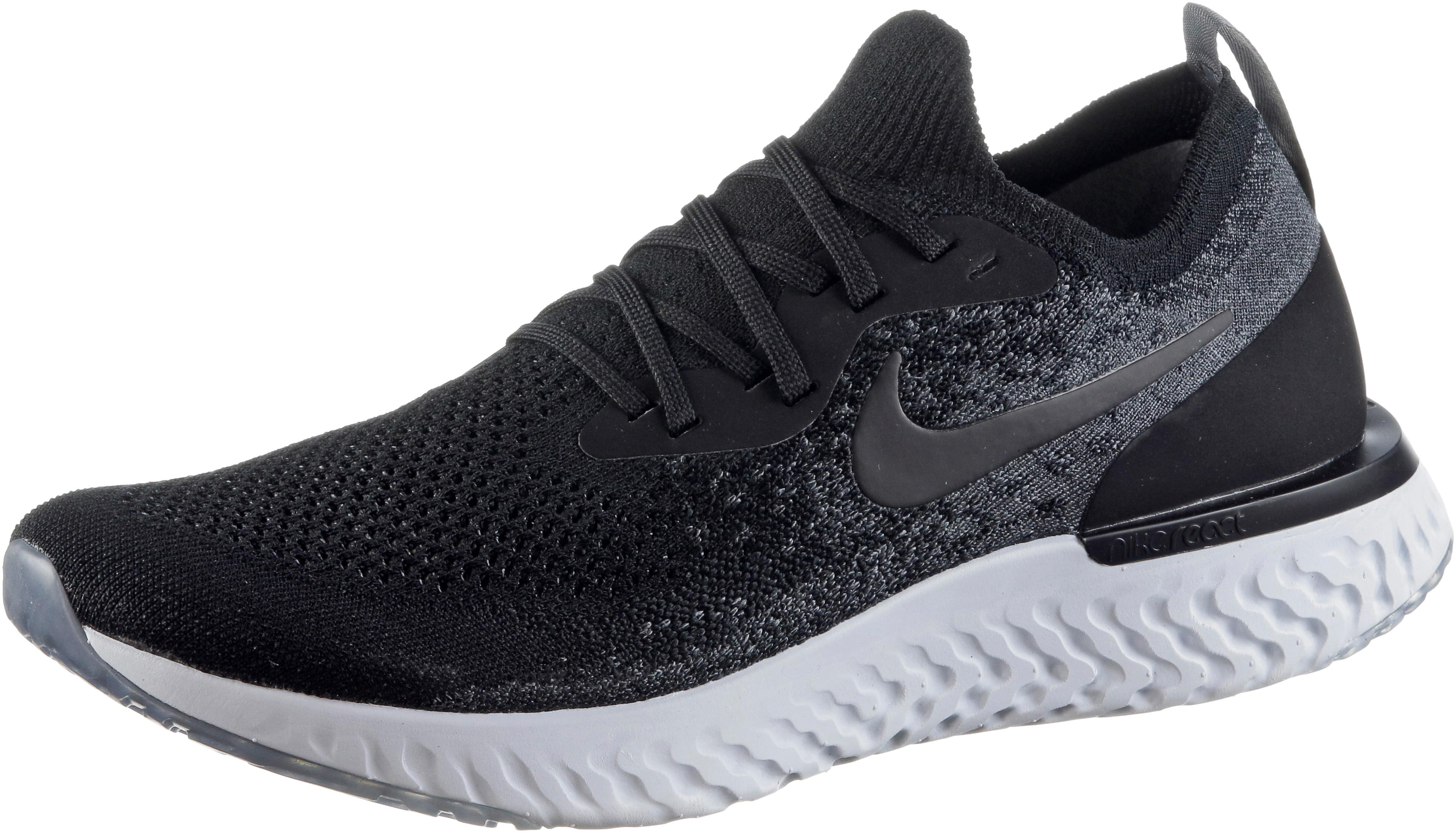 Nike EPIC REACT FLYKNIT Laufschuhe Herren black black dark grey pure platinum im Online Shop von SportScheck kaufen
