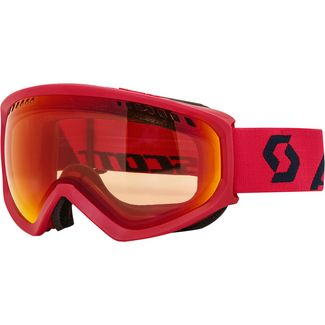 SCOTT Faze Skibrille fluo red/eclipse blue