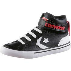 CONVERSE Pro Blaze Strap Sneaker Kinder black-white-bright poppy