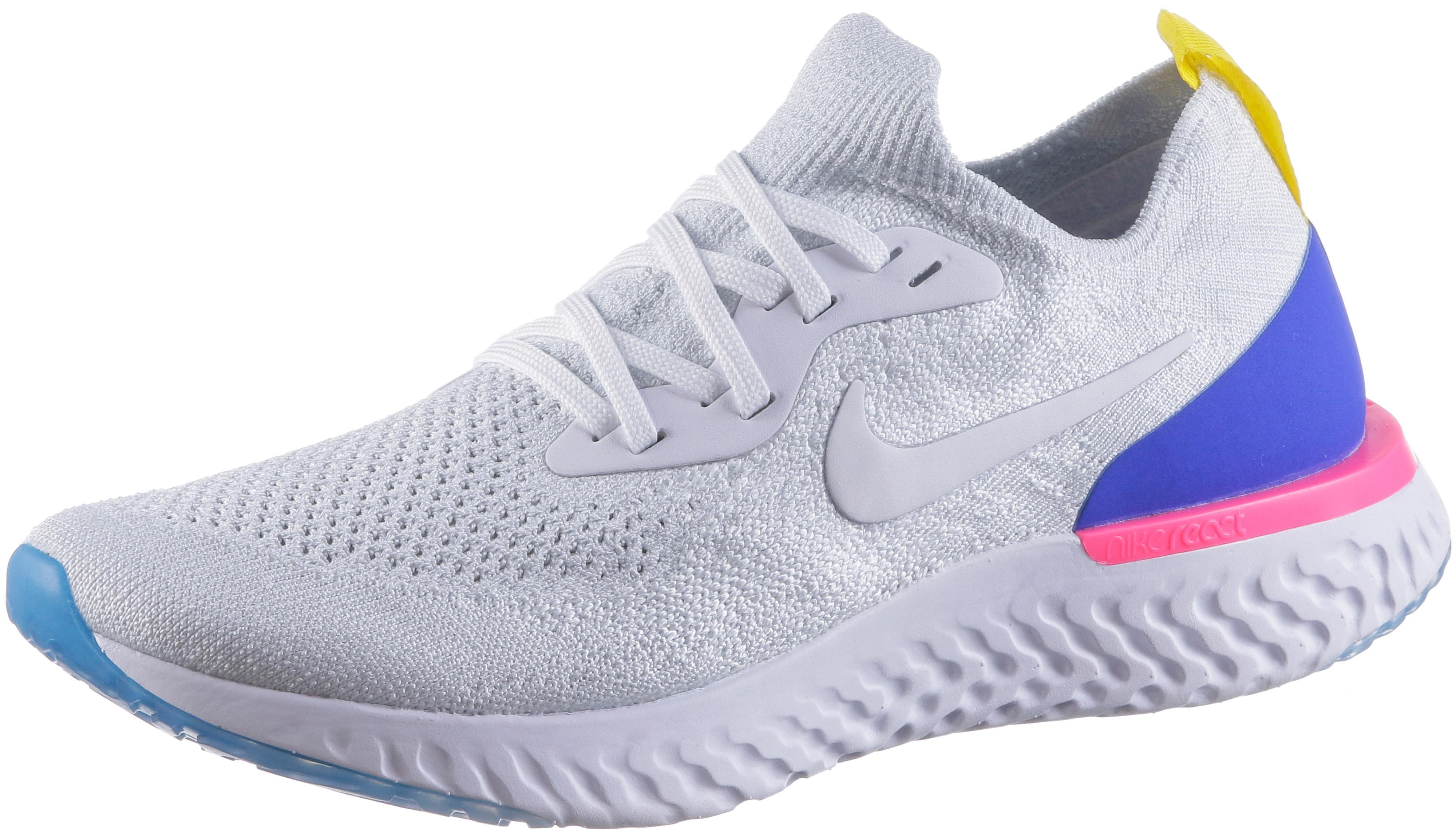 Nike EPIC REACT FLYKNIT Laufschuhe Damen white-white-racer-blue-pink-blast  im Online Shop von SportScheck kaufen