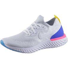 Nike EPIC REACT FLYKNIT Laufschuhe Damen white-white-racer-blue-pink-blast