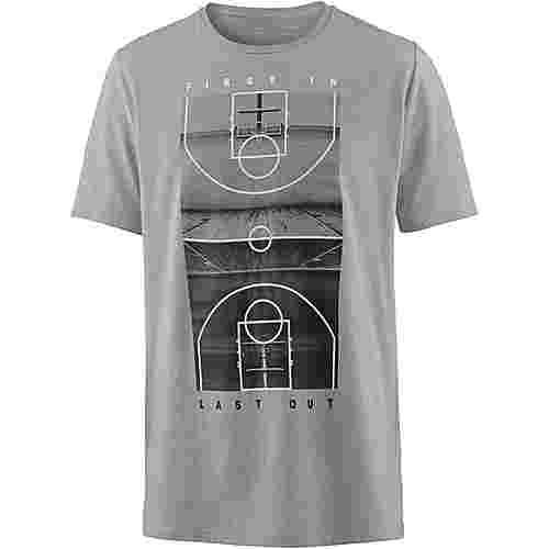 Under Armour T-Shirt Herren steel light heather-white-black