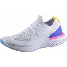 Nike EPIC REACT FLYKNIT Laufschuhe Herren white-white-racer-blue-pink-blast
