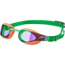 SPEEDO Fastskin elite Goggle Schwimmbrille Kinder fkuo orange/lawn green