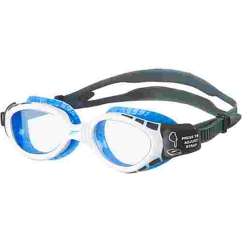SPEEDO Futura Biofuse Flexiseal Schwimmbrille oxid grey/white/blue