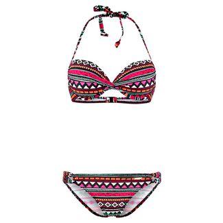 BRUNO BANANI Bikini Set Damen pink-bedruckt