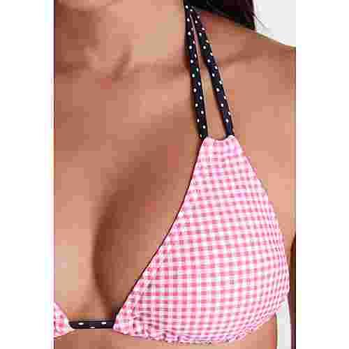 Buffalo Bikini Oberteil Damen rosa-schwarz