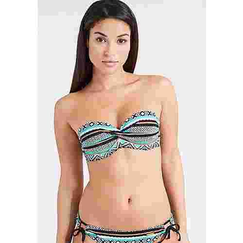 Lascana Bikini Oberteil Damen schwarz-mint