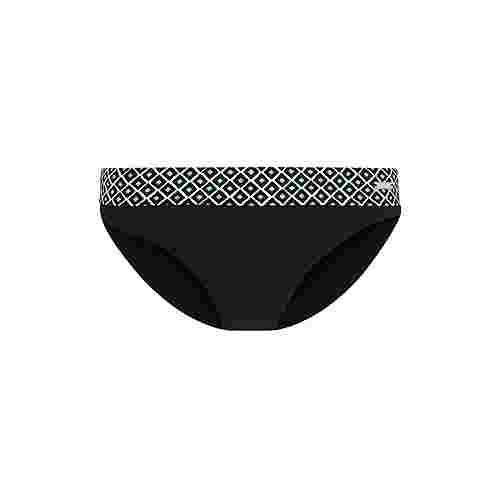 Lascana Bikini Hose Damen schwarz bedruckt