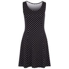 BEACH TIME Minikleid Damen schwarz-weiß