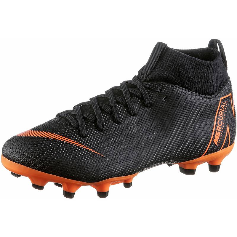 new styles 32fcf 048e6 Nike JR MERCURIAL SUPERFLY 6 ACADEMY GS MG Fußballschuhe Kinder blacktotal  orange-white