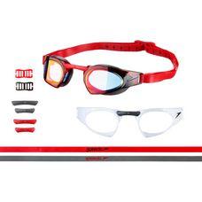 SPEEDO Fastskin Prime Mirror Schwimmbrille usa charcoal/white/lava red