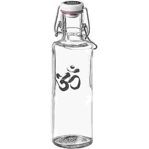 soulbottles Om Trinkflasche transparent-schwarz