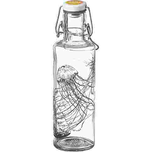 soulbottles Jellyfish in the bottle Trinkflasche transparant-black