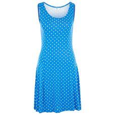 BEACH TIME Minikleid Damen royalblau-weiß