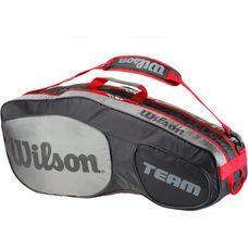 Wilson TEAM III 6PK BAG Tennistasche black-grey