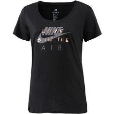 Nike T-Shirt Damen black-cool grey