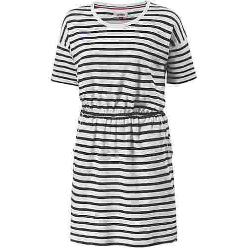 Tommy Jeans Kurzarmkleid Damen BLACK IRIS-BRIGHT WHITE