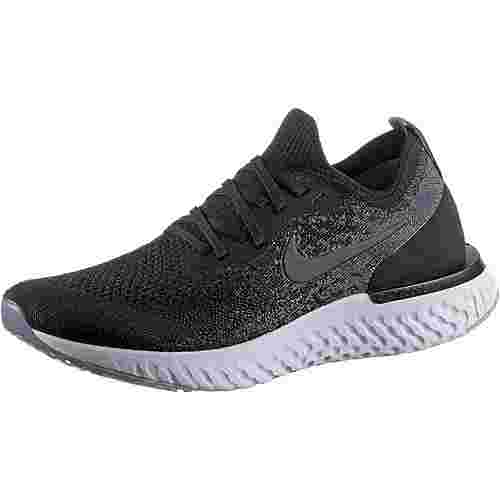 Nike EPIC REACT FLYKNIT Laufschuhe Damen black-black-dark-grey-pure-platinum