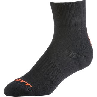 SCOTT Trail Fahrradsocken black/tangerine orange