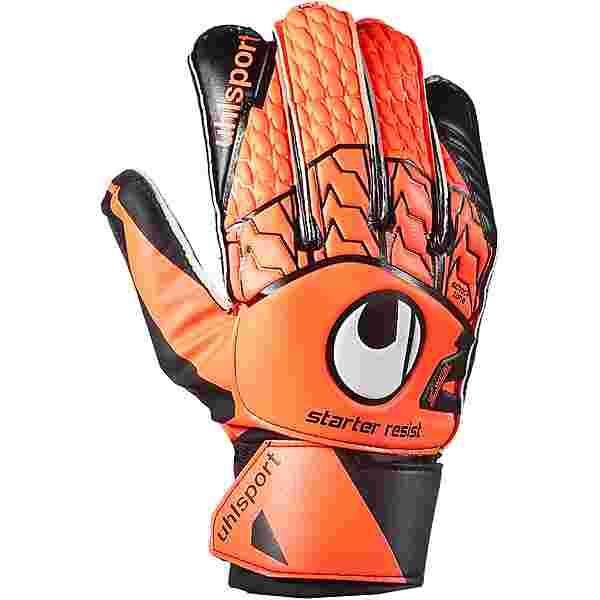 Uhlsport Starter Resist Torwarthandschuhe fluo orange-schwarz-weiß