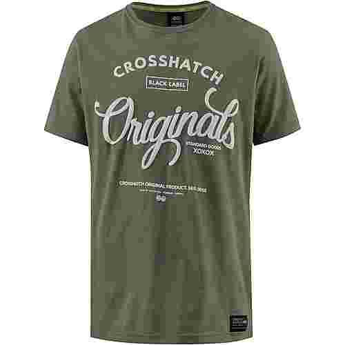 Crosshatch T-Shirt Herren dusty olive