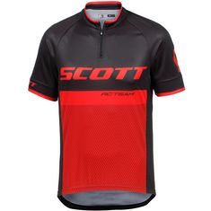 SCOTT RC Team Fahrradtrikot Herren black/fiery red