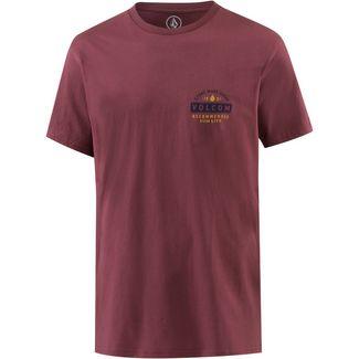 Volcom BARRED T-Shirt Herren CRIMSON
