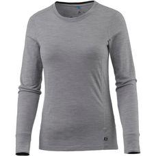 Odlo Natural 100% Merino Funktionsshirt Damen grey melange-black